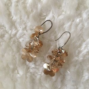 ASOS Crystal Flower Earrings